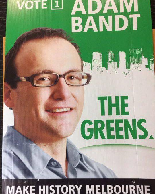 Adam Bandt 2010 poster