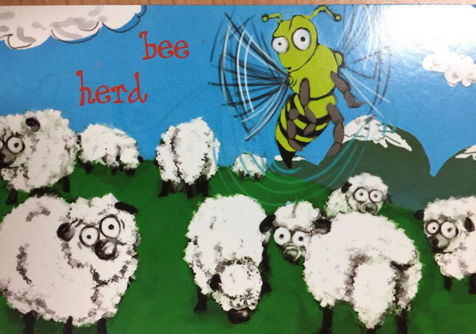 Bee Herd postcard