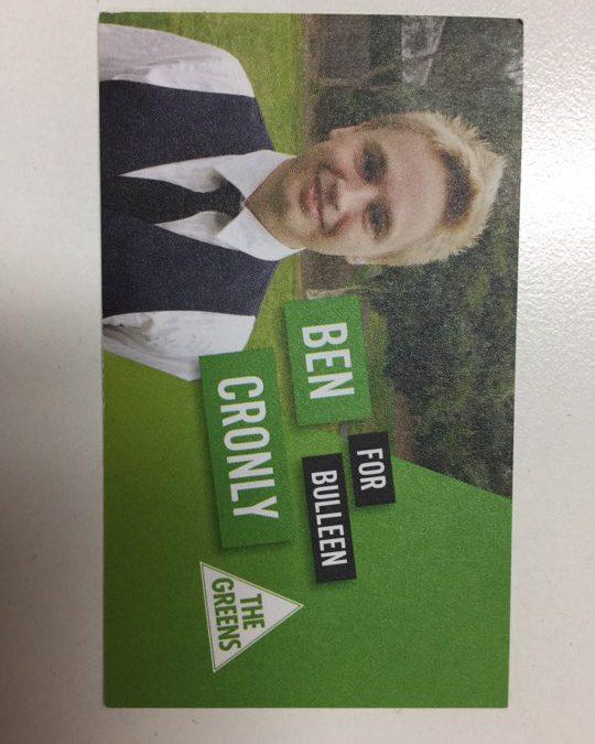 Ben Cronly 2014 card