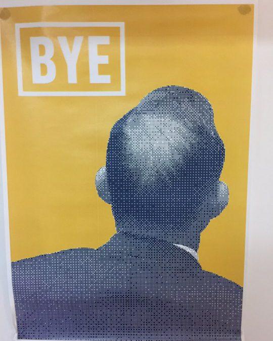 Bye-bye Abbott poster